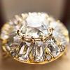 4.83ctw Peruzzi and Cushion Cut Diamond Cluster Ring 11
