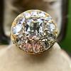 4.83ctw Peruzzi and Cushion Cut Diamond Cluster Ring 6