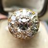 4.83ctw Peruzzi and Cushion Cut Diamond Cluster Ring 22