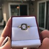 .53ctw Rose Cut Halo Ring, by Single Stone 14