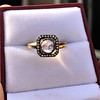 .53ctw Rose Cut Halo Ring, by Single Stone 18