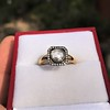 .53ctw Rose Cut Halo Ring, by Single Stone 7