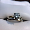 0.78ct Round Brilliant Diamond Bridal Set by Cartier 68