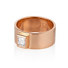 0.40ct Carre Cut Rose Gold Band 0