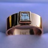 0.40ct Carre Cut Rose Gold Band 11