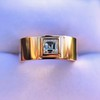 0.40ct Carre Cut Rose Gold Band 8