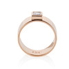 0.40ct Carre Cut Rose Gold Band 1