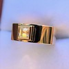 0.40ct Carre Cut Rose Gold Band 10