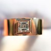 0.40ct Carre Cut Rose Gold Band 15