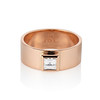 0.40ct Carre Cut Rose Gold Band 3