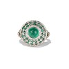 Emerald Cabochon and Diamond Fancy Ring by David Morris 0