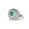 Emerald Cabochon and Diamond Fancy Ring by David Morris 1