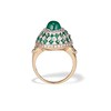 Emerald Cabochon and Diamond Fancy Ring by David Morris 3