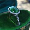 1.87ct Jadeite Halo Ring 3