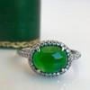 1.87ct Jadeite Halo Ring 22