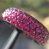 3.20ctw pink Sapphire Eternity Band, by Assil 7
