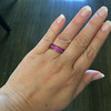 3.20ctw pink Sapphire Eternity Band, by Assil 4