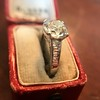 2.53ctw Old European Cut Diamond French Cut Side Stones Ring, by Single Stone 17