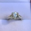 2.53ctw Old European Cut Diamond French Cut Side Stones Ring, by Single Stone 31