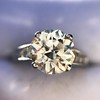 2.53ctw Old European Cut Diamond French Cut Side Stones Ring, by Single Stone 44