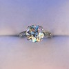 2.53ctw Old European Cut Diamond French Cut Side Stones Ring, by Single Stone 7