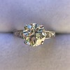 2.53ctw Old European Cut Diamond French Cut Side Stones Ring, by Single Stone 41