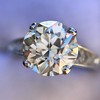 2.53ctw Old European Cut Diamond French Cut Side Stones Ring, by Single Stone 8