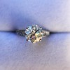 2.53ctw Old European Cut Diamond French Cut Side Stones Ring, by Single Stone 43