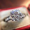 2.53ctw Old European Cut Diamond French Cut Side Stones Ring, by Single Stone 5