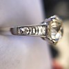 2.53ctw Old European Cut Diamond French Cut Side Stones Ring, by Single Stone 33