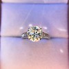 2.53ctw Old European Cut Diamond French Cut Side Stones Ring, by Single Stone 40