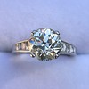 2.53ctw Old European Cut Diamond French Cut Side Stones Ring, by Single Stone 11