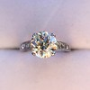 2.53ctw Old European Cut Diamond French Cut Side Stones Ring, by Single Stone 27