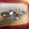 2.53ctw Old European Cut Diamond French Cut Side Stones Ring, by Single Stone 15