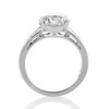 2.53ctw Old European Cut Diamond French Cut Side Stones Ring, by Single Stone 3