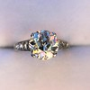 2.53ctw Old European Cut Diamond French Cut Side Stones Ring, by Single Stone 24