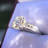 2.53ctw Old European Cut Diamond French Cut Side Stones Ring, by Single Stone 21