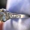 2.53ctw Old European Cut Diamond French Cut Side Stones Ring, by Single Stone 34