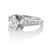 2.53ctw Old European Cut Diamond French Cut Side Stones Ring, by Single Stone 1