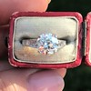 2.53ctw Old European Cut Diamond French Cut Side Stones Ring, by Single Stone 29