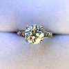 2.53ctw Old European Cut Diamond French Cut Side Stones Ring, by Single Stone 42