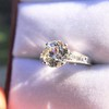 2.53ctw Old European Cut Diamond French Cut Side Stones Ring, by Single Stone 23
