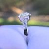 2.53ctw Old European Cut Diamond French Cut Side Stones Ring, by Single Stone 9