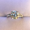 2.53ctw Old European Cut Diamond French Cut Side Stones Ring, by Single Stone 38