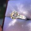 2.53ctw Old European Cut Diamond French Cut Side Stones Ring, by Single Stone 25