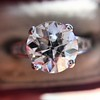 2.53ctw Old European Cut Diamond French Cut Side Stones Ring, by Single Stone 18