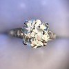 2.53ctw Old European Cut Diamond French Cut Side Stones Ring, by Single Stone 35