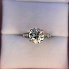 2.53ctw Old European Cut Diamond French Cut Side Stones Ring, by Single Stone 39