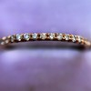 Rose Gold Micropave Diamond Band, by Single Stone 12