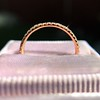 Rose Gold Micropave Diamond Band, by Single Stone 14